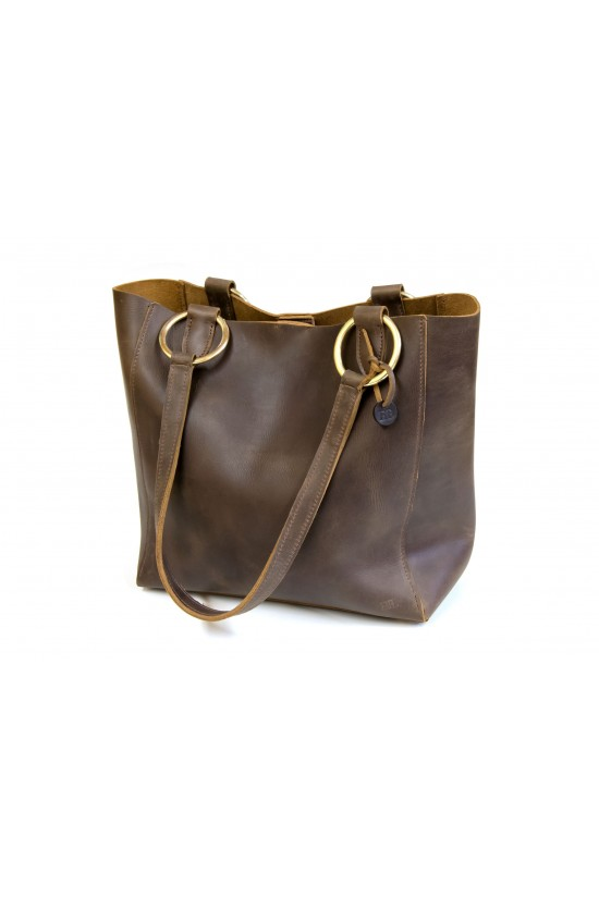 EB Leather Tote Bag