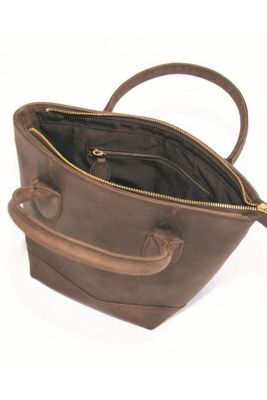 EB Leather Handheld Handbag