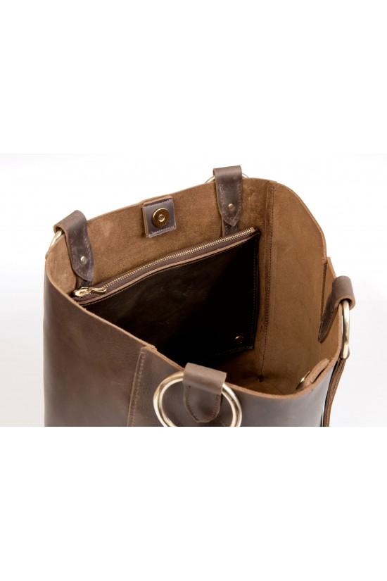 EB Leather Tote Bag