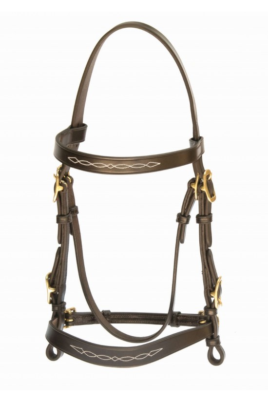 EB English Inhand Fancy Stitched Show Bridle